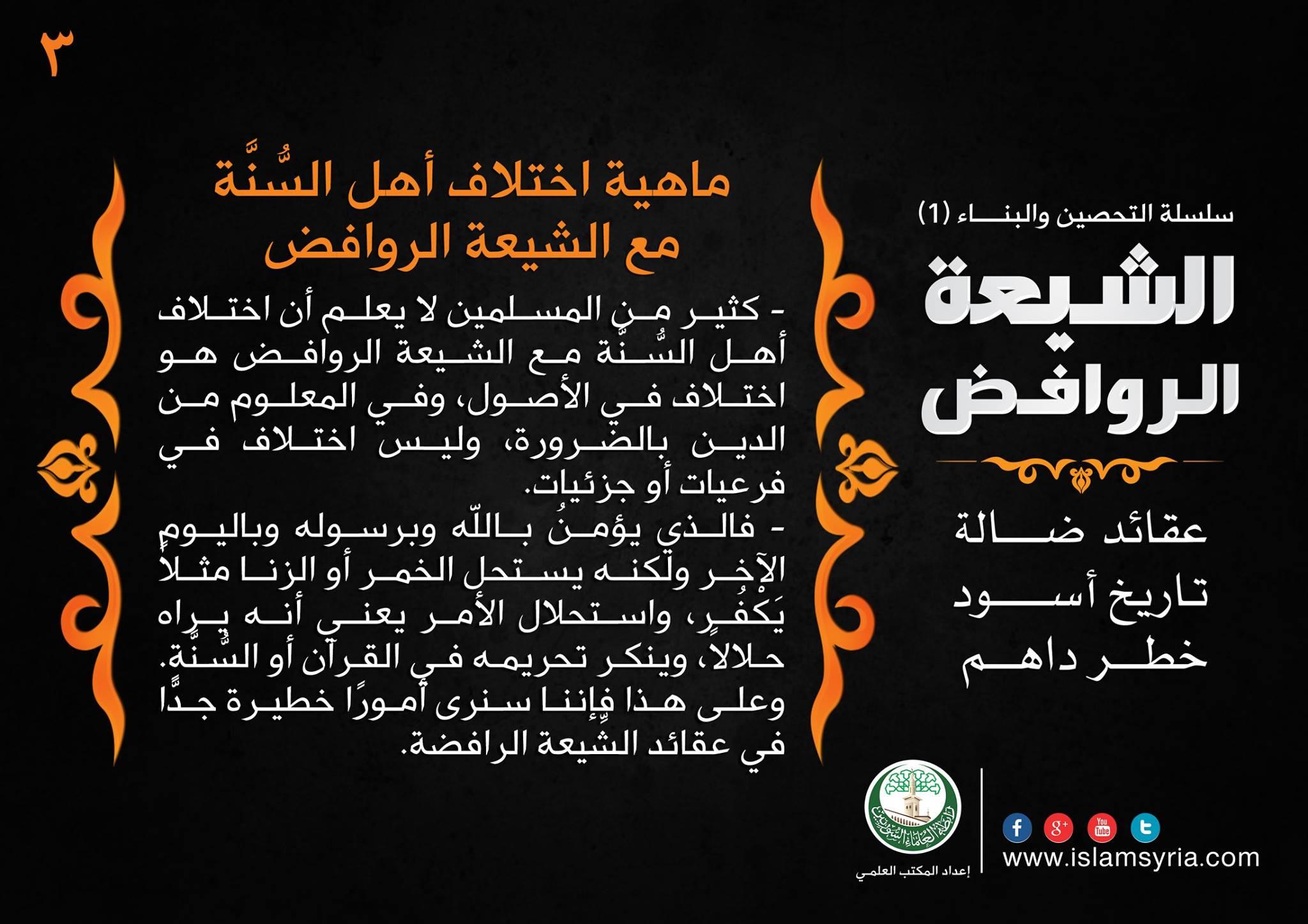 سلسلة التحصين والبناء -3- الشيعة الروافض