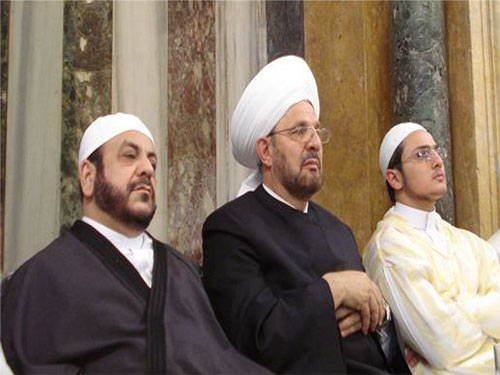 اجتماع كبير في جامع السلطانية بحلب - ذكرى مرور عام على وفاة الشيخ عبد العزيز الشامي